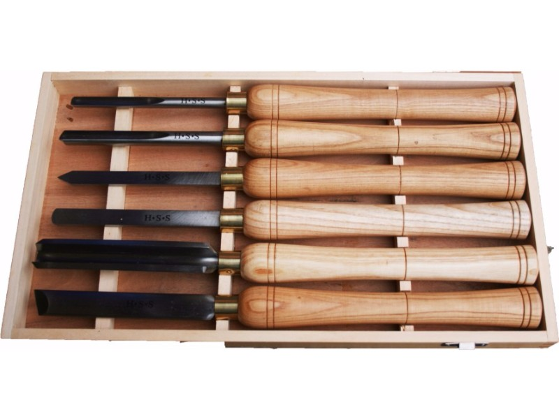 Tm064 6pc Hss Wood Turning Chisel Set