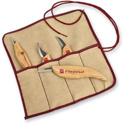 Flexcut KN100 4pc Wood Carving Knife Set